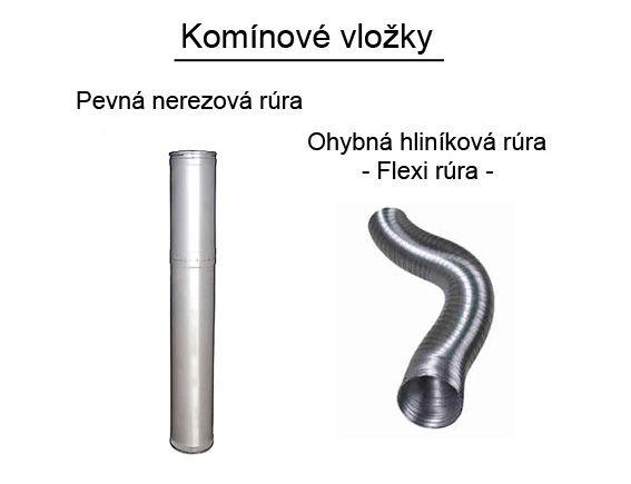 Komínové vložky pevné nerezové alebo flexibilné hliníkové